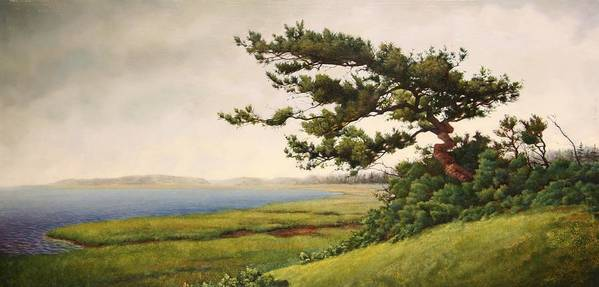 Cape Cod Art Print featuring the painting Wellfleet Saltmarsh by Stephen Bluto