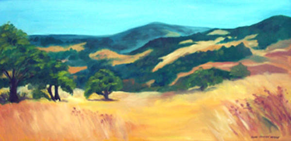 Landscape Art Print featuring the print Western Hills by Anne Trotter Hodge