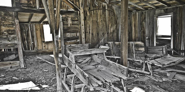 Bodie Art Print featuring the photograph Abandon Barn by Richard Balison