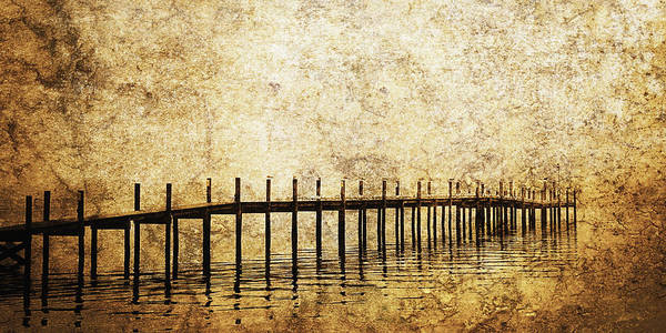 Art Art Print featuring the photograph Dock by Skip Nall