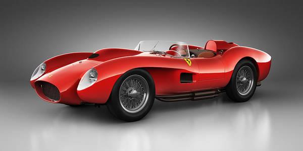 Transportation Print featuring the digital art Ferrari 250 Testa Rossa - Spirit by Marc Orphanos