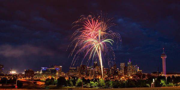 Denver Art Print featuring the photograph Fourth Of July by John K Sampson