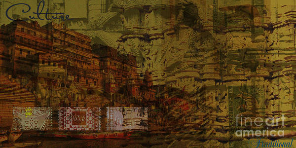 Heritage Cultural Traditional Painting Mix Media Digital Collage Art ...