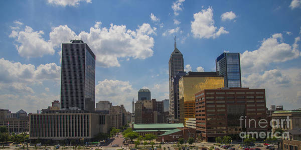 Indy 500 Art Print featuring the photograph Indianapolis Skyline June 2013 by David Haskett