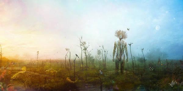 Surreal Landscape Art Print featuring the digital art Internal Landscapes by Mario Sanchez Nevado