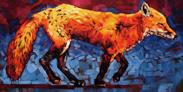 Animals Art Print featuring the painting Just Keep Moving by Carrie Cook