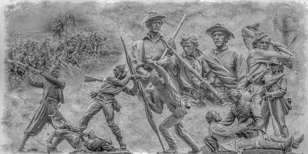 Monuments On The Gettysburg Battlefield Art Print featuring the digital art Monuments On The Gettysburg Battlefield Ver 2 by Randy Steele