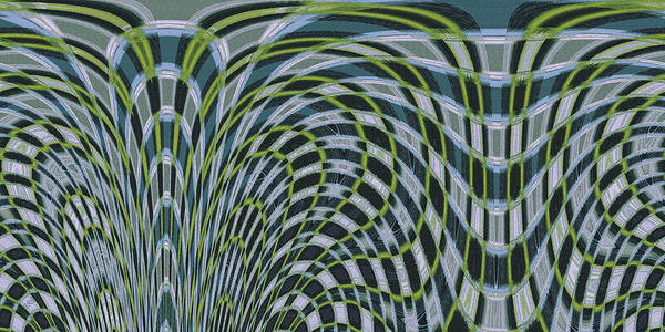 Water Abstract Art Print featuring the digital art Ocean Dream by Ben and Raisa Gertsberg