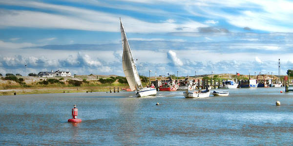 Sailing Boats Print featuring the photograph River Rother by Sharon Lisa Clarke