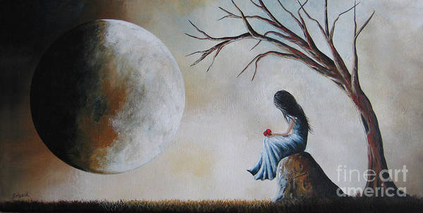 Fantasy Art Print featuring the painting She Misses You By Shawna Erback by Shawna Erback