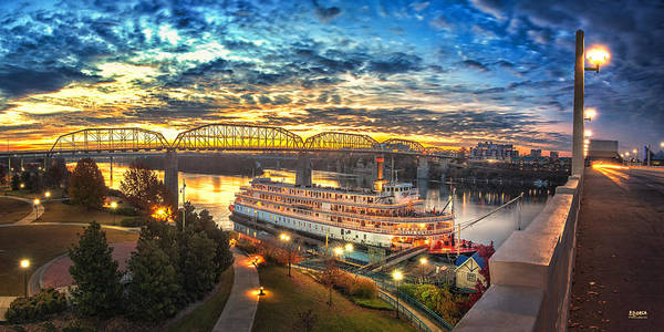 Delta Queen Print featuring the photograph Sunrise Over The Delta Queen by Steven Llorca