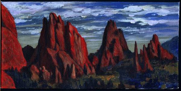 Landscape Art Print featuring the painting The Garden Of The Gods II by Inga Vereshchagina