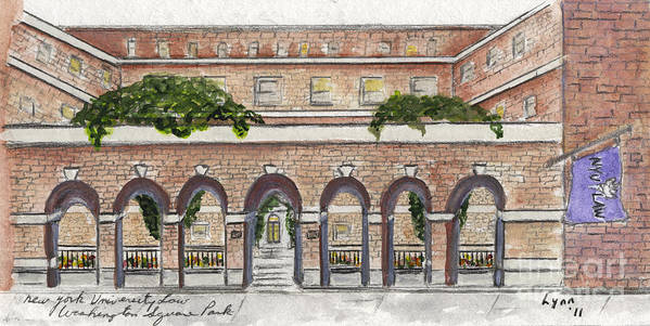 Nyu Law School Art Print featuring the painting The Nyu Law School by AFineLyne