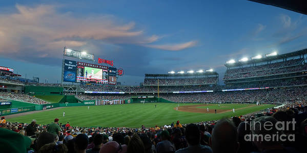 Red Sox Print featuring the photograph Washington Nationals In Our Nations Capitol by Thomas Marchessault