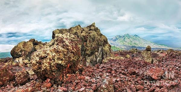 Volcano Art Print featuring the photograph Volcano Batur by MotHaiBaPhoto Prints