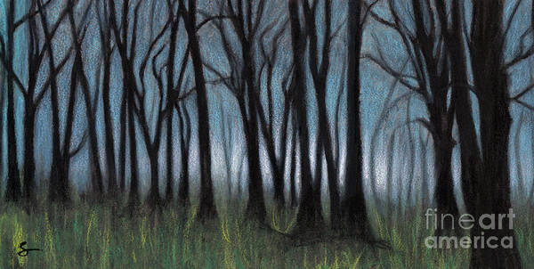 Landscape Art Print featuring the painting A Forest by Scott Alberts