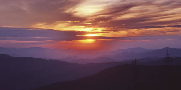Great Smokey Mountain National Park Art Print featuring the photograph Awesome Sunset by Harold Rau