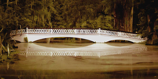 Bridge Art Print featuring the photograph Back In The Day by DigiArt Diaries by Vicky B Fuller