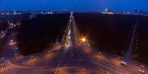 Berlin Art Print featuring the photograph Berlin From The Siegessaule by Mike Reid