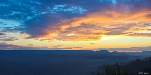 Grand Canyon Art Print featuring the photograph Here Comes The Sun by Heidi Smith