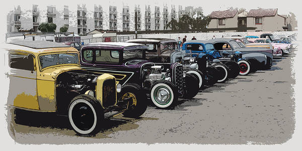 Hot Rods Print featuring the photograph Hot Rod Row by Steve McKinzie