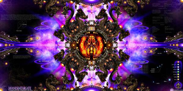 Stargate Art Print featuring the digital art Javanese Stargate by Chris Varthalamis