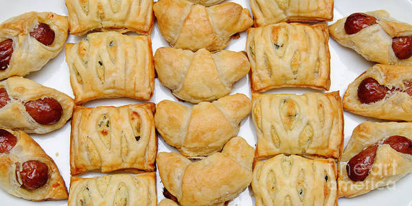 Food Art Print featuring the photograph Puff Pastry Party Tray Pano by Andee Design