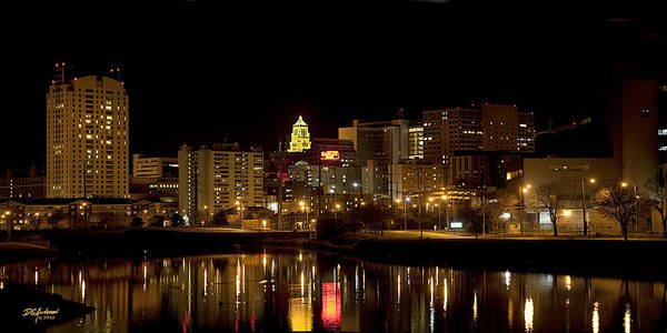 Rochester Art Print featuring the photograph Rochester By Night by Don Anderson