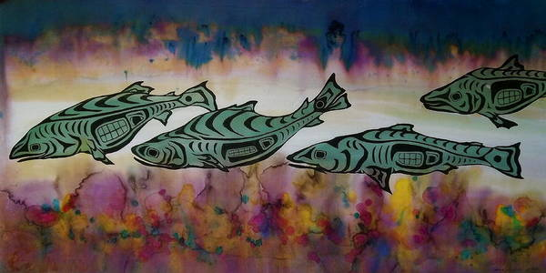 Underwater Art Print featuring the tapestry - textile Underwater Color by Carolyn Doe