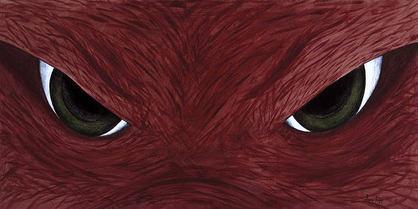 Arkansas Art Print featuring the painting Hog Eyes by Amy Parker