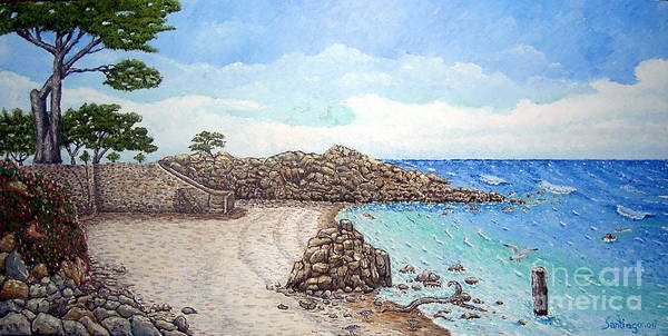 Impressionism Art Print featuring the painting Pacific Grove by Santiago Chavez