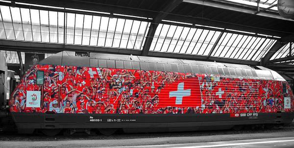 Zurich Art Print featuring the photograph Swiss Train To Zurich by Ginger Wakem
