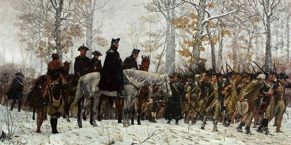 March Art Print featuring the painting The March To Valley Forge by William Trego