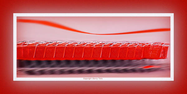 Red Art Print featuring the photograph Attention Shoppers by Gerry Tetz