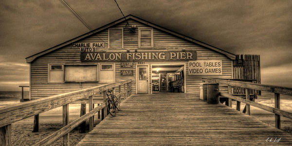 Pier Art Print featuring the photograph Avalon Fishing Pier by E R Smith