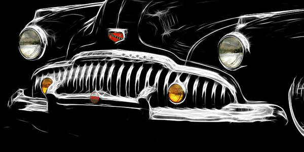 Bad Buick Art Print featuring the photograph Bad Buick by Wes and Dotty Weber
