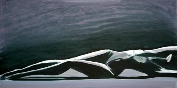 Art Art Print featuring the painting Beautiful Diver by Jarmo Korhonen aka Jarko