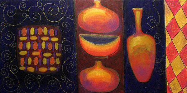 Ceramic Art Print featuring the painting Ceramics by Aliza Souleyeva-Alexander