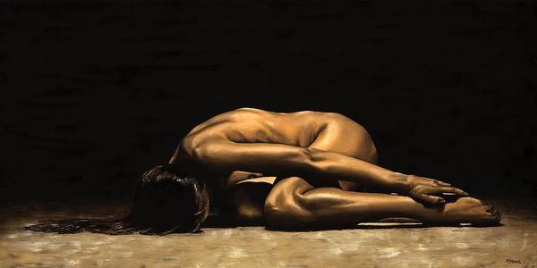 Nude Art Print featuring the painting Chastity by Richard Young