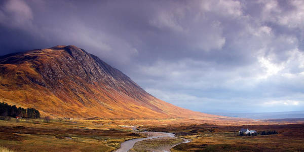 Scotland Art Print featuring the photograph Gathering Storm Glencoe by John McKinlay
