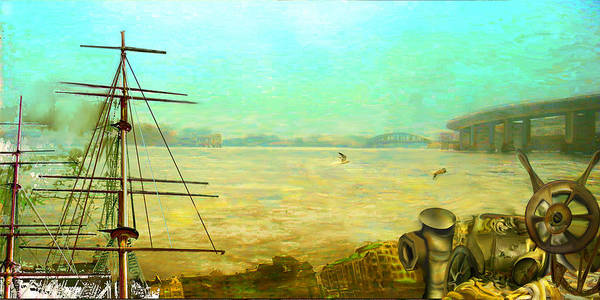 Boat Art Print featuring the painting Getting Long In The Tooth by Anne Weirich