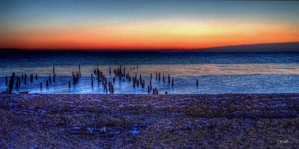Hdr Art Print featuring the photograph Icy Dawn by E R Smith