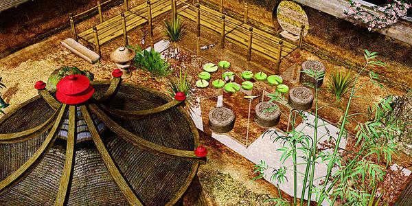 Garden Art Print featuring the photograph Japanese Garden by Peter J Sucy