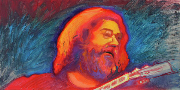 Jerry Garcia Art Print featuring the painting Jerry 4 by Pam Baker