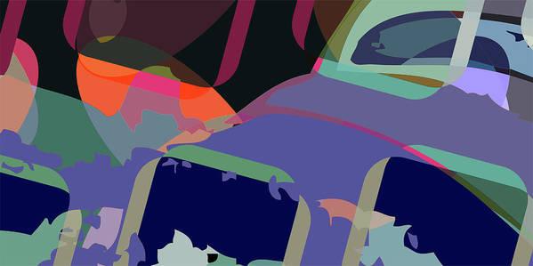 Abstract Art Print featuring the digital art Jim 6 by Scott Davis