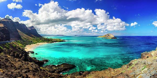 Hawaii Oahu Beach Sky Ocean Art Print featuring the photograph Lookout Point by John Simon