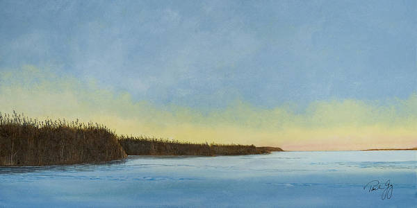Gulf Of Mexico Art Print featuring the painting Mississippi River Delta At Dawn by Paul Gaj