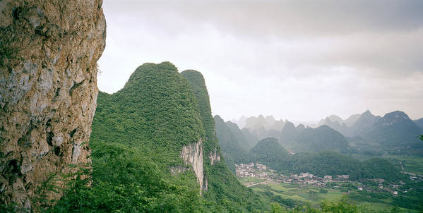 China Art Print featuring the photograph China Mountain View by Shaun Higson
