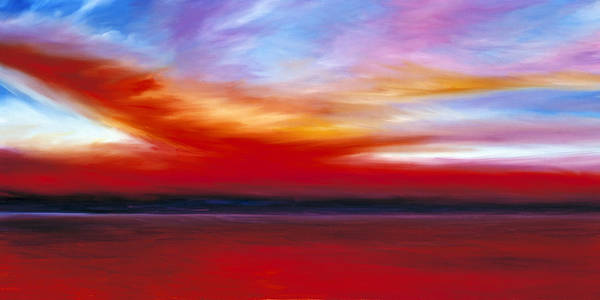 Clouds Art Print featuring the painting October Sky by James Christopher Hill