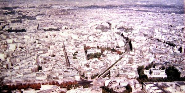 1955 Art Print featuring the photograph Paris Panorama 1955 by Will Borden